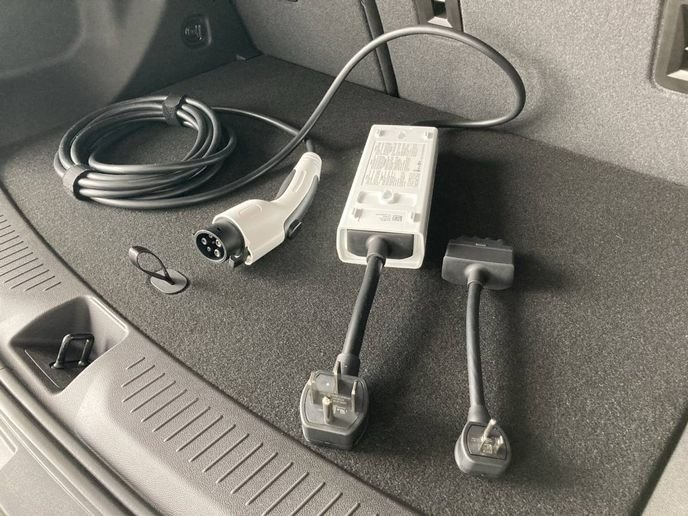 The 2022 Chevrolet Bolt EUV comes standard with a 110v charger as well as the Dual Level Charge Cord, which Cord allows users to plug into a 240v outlet for Level 2 charging of up to 7.2 kilowatts. - Photo by Chris Brown