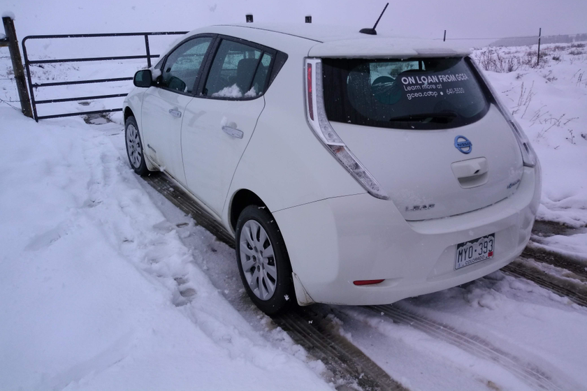 The Nissan Leaf and other BEVs in the GCEA fleet operate regularly throughout the winter at...