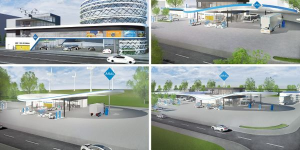 Aral's concept for a city fuel station in 2040.