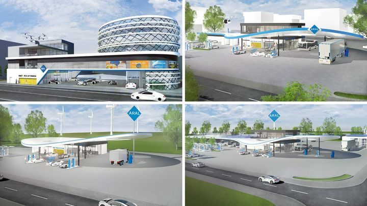 Aral's concept for a city fuel station in 2040. - Photo courtesy of Aral.