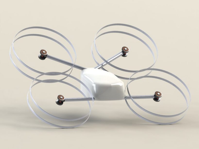 Manna drones have been designed with a very simple service envelope — 2 kilos of hot food across 2km radius operating areas — safely.  - Photo via Manna.