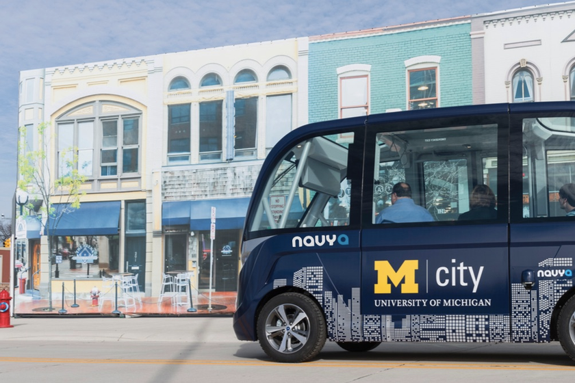 Two of Navya's Autonom electric autonomous shuttles have been part of University of Michigan's...