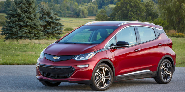 The 2019 Chevrolet Bolt battery-electric vehicle currently enjoys a $500 manufacturer's rebate...