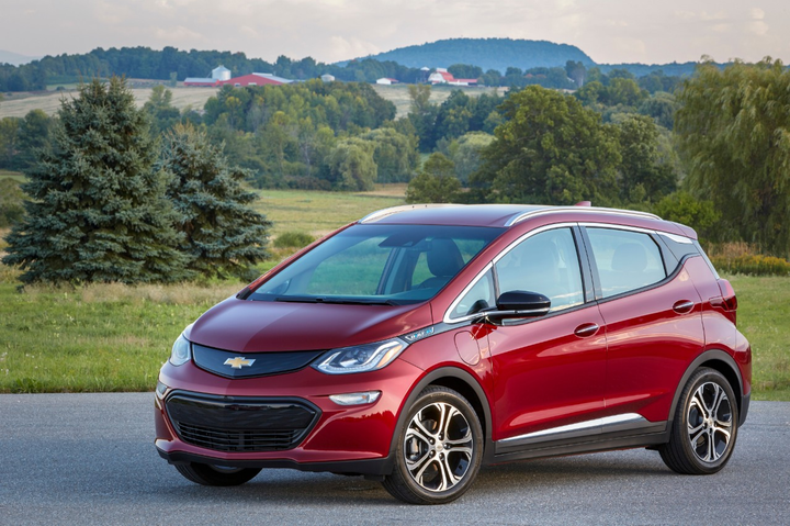 The 2019 Chevrolet Bolt battery-electric vehicle currently enjoys a $500 manufacturer's rebate and a $3,750 federal rebate. Factoring in Vincentric's eight cost elements, the Bolt's total operating costs run $28,329, or $.63 cents per mile, after 36 months and 45,000 miles. - Photo via GM.