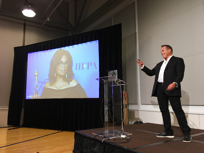 """Merchants Fleet CEO Brendan Keegan outlined how fleet management companies the role of the fleet management company as a """"fleet tech partner,"""" an aggregator of suppliers, platforms, and partners.  - Photo by Chris Brown."""