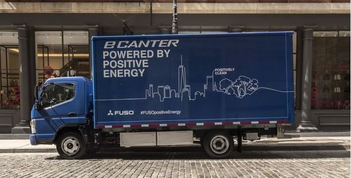 Mitsubishi was one of the first OEMs to release an all-electric commercial vehicle, yet there are only a few hundred Fuso eCanters on the road today. Will there be enough product like eCanter at a reasonable price point in four years to satisfy CARB's new rules?  - Photo courtesy of Mitsubishi.