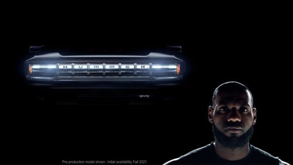 Lebron James is helping GM tease the electric Hummer.  - Photo courtesy of GM.
