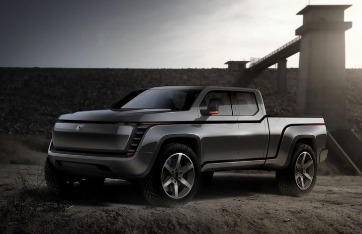 A rendering of the Lordstown Endurance all-electric pickup, scheduled for fleet deliveries starting in January 2021. - Photo courtesy of Lordstown Motors.