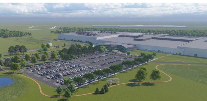 Ground prep has started on the Ultium Cells LLC battery cell manufacturing facility in Lordstown, Ohio. Ultium Cells LLC is the name of the General Motors and LG Chem joint venture for cell manufacturing. - Conceptual rendering courtesy of General Motors.