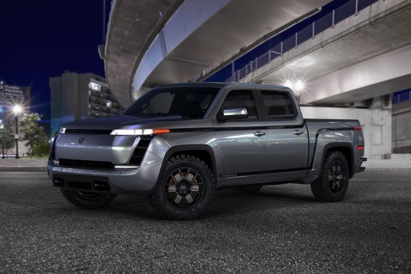 The Lordstown Endurance all-electric pickup truck has fewer moving parts and a 75 MPG equivalent, which is expected to deliver a lower total cost of ownership compared to typical pickup trucks. - Image courtesy of Lordstown Motors.