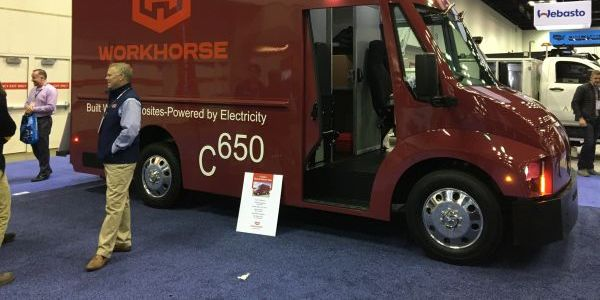 Workhorse unveiled the C-650 electric step van at the 2020 Work Truck Show in Indianapolis in...