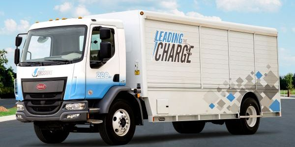 Peterbilt claims a range of up to 200 miles on a full charge, making the 220EV ideal for local...