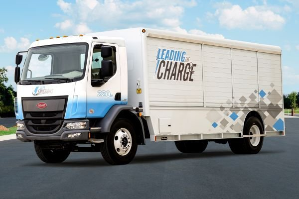 Peterbilt claims a range of up to 200 miles on a full charge, making the 220EV ideal for local pickup and delivery, as well as short regional haul operations. - Photo courtesy of Peterbilt.