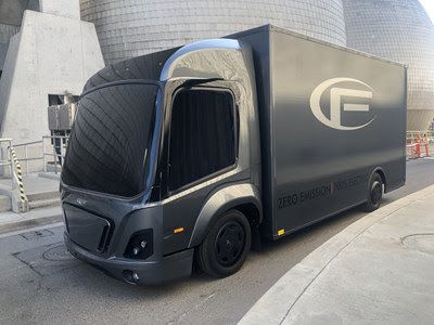 The CF1 is an electric class 3 truck for last mile logistics and has a unique modular concept which will decrease development costs and time-to-market significantly. - Photo via CityFreighter.