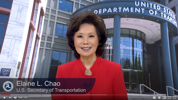 U.S. Department of Transportation Secretary Elaine L. Chao announced the initiative on Wednesday. Ten companies and nine states have signed on so far as participants in the voluntary web pilot. - Photo courtesy of U.S. Department of Transportation