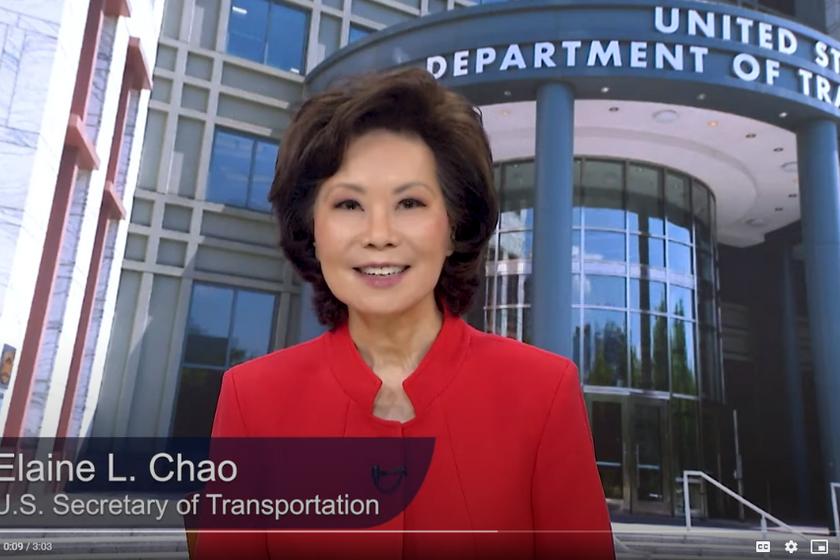 U.S. Department of Transportation Secretary Elaine L. Chao announced the initiative on...