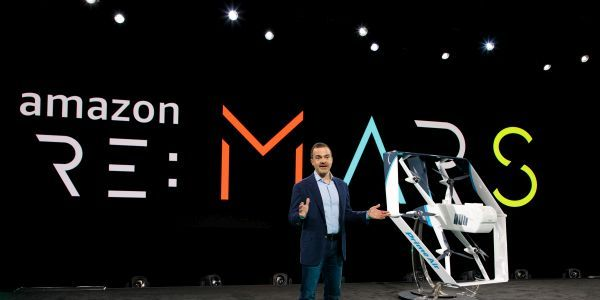 Jeff Wilke, CEO of Worldwide Consumer at Amazon.Com, launches Amazon's drone ininitiative in...