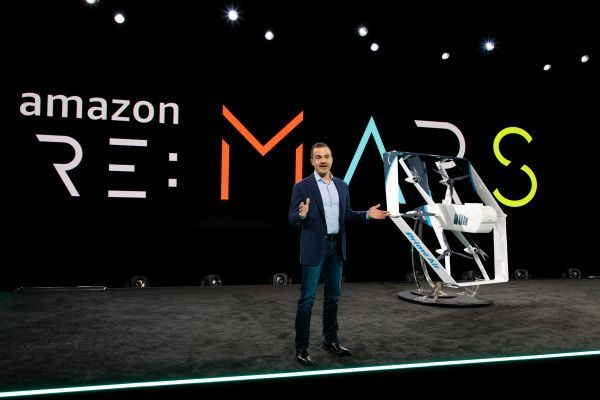 Jeff Wilke, CEO of Worldwide Consumer at Amazon.Com, launches Amazon's drone ininitiative in June 2019. - Photo courtesy of Amazon.