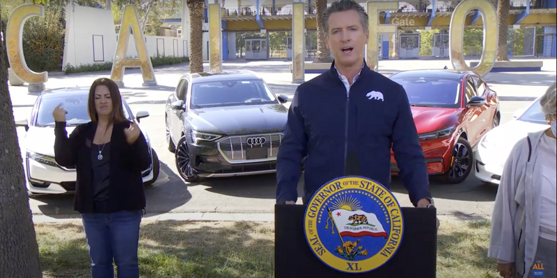 Although the order would require new cars to be zero-emission, it would not prevent Californians...