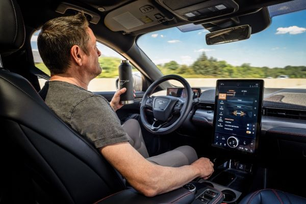 Active Drive Assist allows the driver to operate the vehicle hands-free while the driver is monitored by a driver-facing camera to monitor the driver's attention to the road. - Photo courtesy of Ford Motor Co.