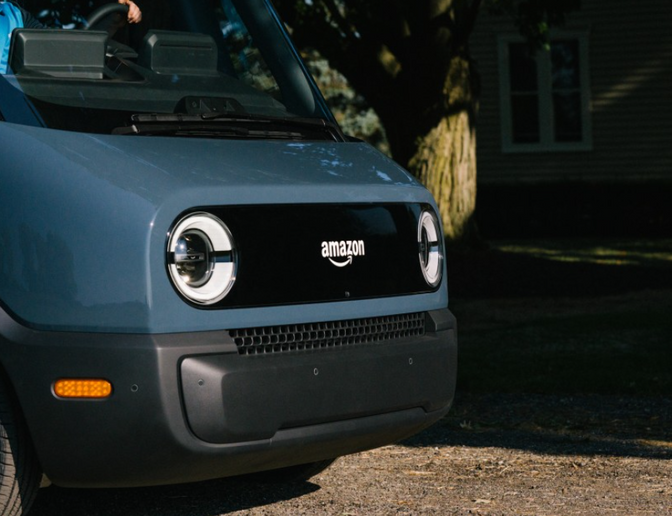 The Amazon electric delivery vehicle is slated to launch as early as 2022.  - Photo courtesy of Amazon.