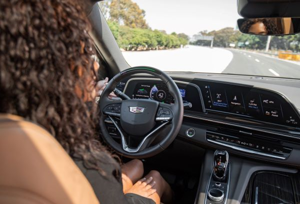 Cadillac's Super Cruise uses direct driver monitoring to warn drivers that appear to have stopped paying attention to the road. The Super Cruise system uses a small camera that faces the driver's eyes to determine whether the driver is watching the road. - Photo via Cadillac.