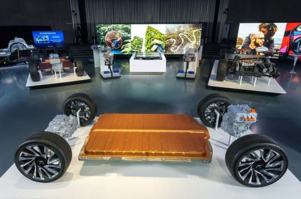 General Motors revealed its new modular platform and battery system, in March at the Design Dome on the GM Tech Center campus in Warren, Mich. - Photo by Steve Fecht/General Motors.