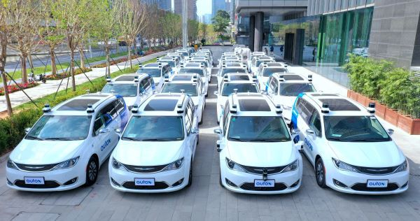 AutoX has been conducting driverless tests in Shenzen, China, for the past half a year with 25 driverless robotaxis. In January, the company partnered with Fiat Chrysler to deploy Chrylser Pacifica minivans with autonomous technology. - Photo courtesy of AutoX.
