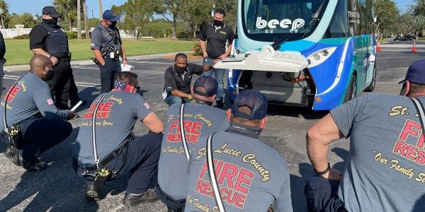 Port Saint Lucie-area first responders, fire fighters, and law enforcement officials received a...