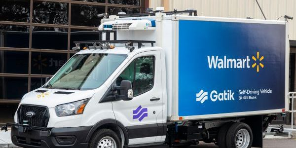 Gatik's new autonomous trucks are on Ford Transit 350 HD chassis with an electric powertrain...