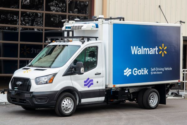 Gatik's new autonomous trucks are on Ford Transit 350 HD chassis with an electric powertrain from Via Motors Inc. - Photo courtesy of Gatik.