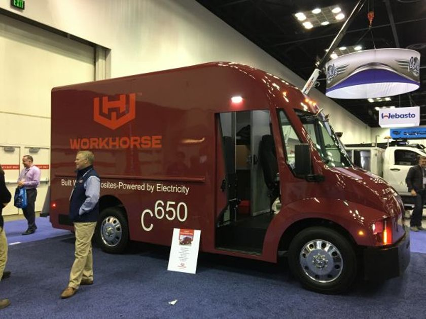 If passed, the bill would allow buyers of electric trucks such as the Workhorse C650 electric...