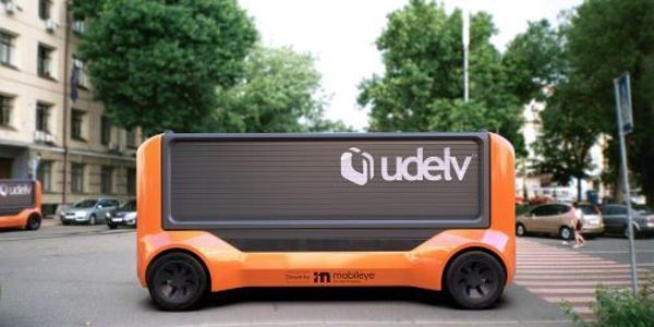 The Transporter is Udelv's next-generation vehicle, comprised of an electric skateboard, cargo...