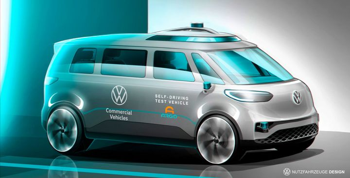 The automaker is conducting autonomous field trials in Germany this year, with the aim to develop a ride-hailing and pooling service. - Imagecourtesy of Volkswagen.