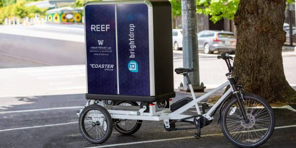 BrightDrop's propulsion-assisted electric palletsare designed to move goods over short...