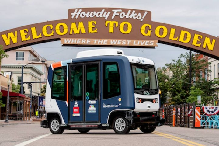 The first phase of the program includes a fleet of nine driverless, zero-emission EZ10 shuttles from technology-provider EasyMile. - Photo: Colorado School of Mines