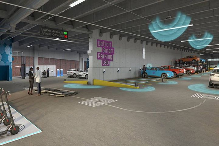 Detroit Smart Parking Lab provides physical environment to simulate real-world scenarios for testing advanced technologies in parking, logistics and EV charging - Photo: Enterprise