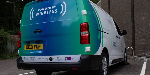 Four vans will be included in the initial trial. Charging pads underneath the vehicle are...