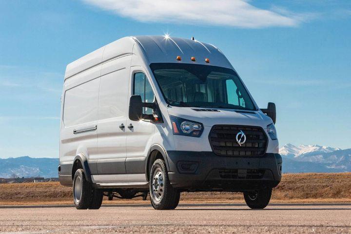 The Lightning eMotors Electric Transit Cargo Van includesLightning Analytics for insight into usage and efficiency. - Photo: Lightning eMotors
