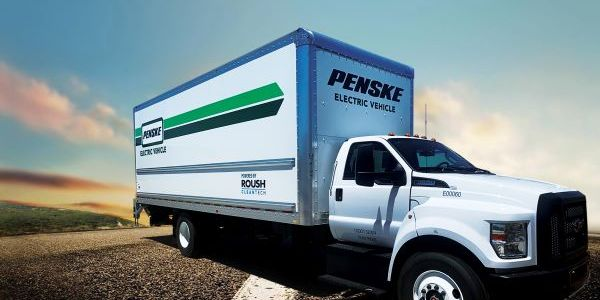 The Zero-Emission Battery Electric Vehicle has a GVWR of 26,000 lbs. and is built on the Ford...