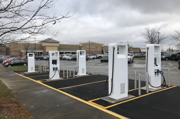 The charging stations are for public use 24 hours a day and feature 150 kilowatt and 350 kW DC fast chargers. - Photo via Electrify America.