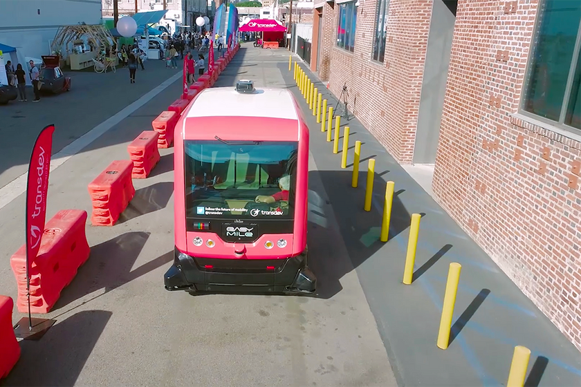 At last year's event, attendees were able to travel in an autonomous shuttle by Easy Mile and...