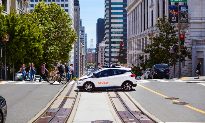 Cruise on the streets of San Francisco - Photo via Cruise.