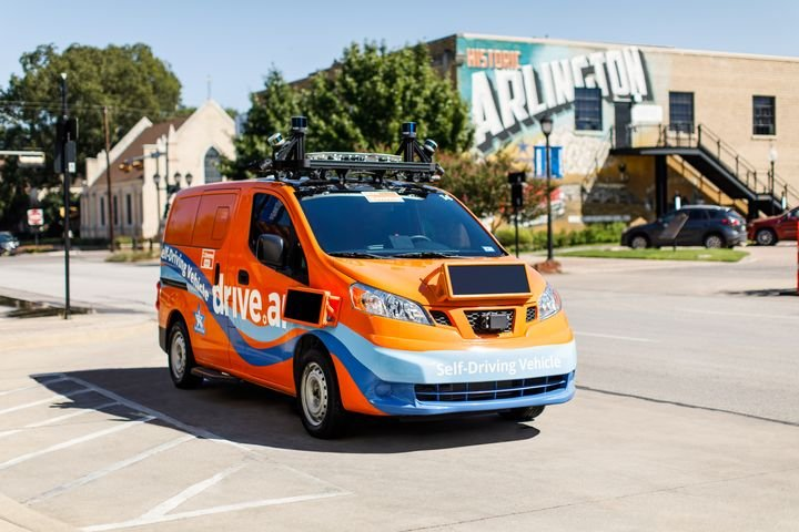 Autonomous vehicle startup Drive.ai had started its pilot project in Arlington, Texas, in self-driving Nissan NV200 shuttles. - Photo courtesy of Drive.ai.