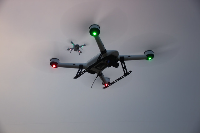 Current drone regulations prohibit them from flying over crowds or urban areas.  - Photo via Chris Blank/Flickr.