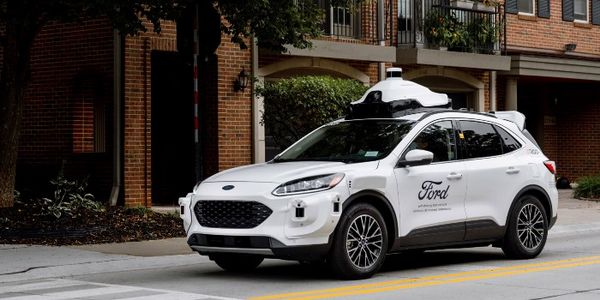 Ford and Argo AI's fourth-generation self-driving test vehicles are built on the Escape Hybrid...