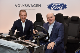 Ford, VW Partner on Autonomous Driving, High-Volume EV for Europe