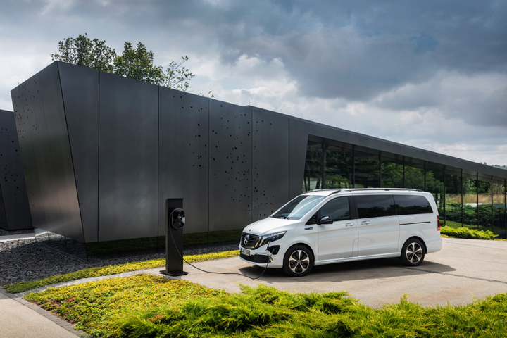 The Concept EQV is making its official debut at this year's IAA Commercial Vehicles trade event in Hannover, Germany in September. - Photo via Mercedes-Benz.