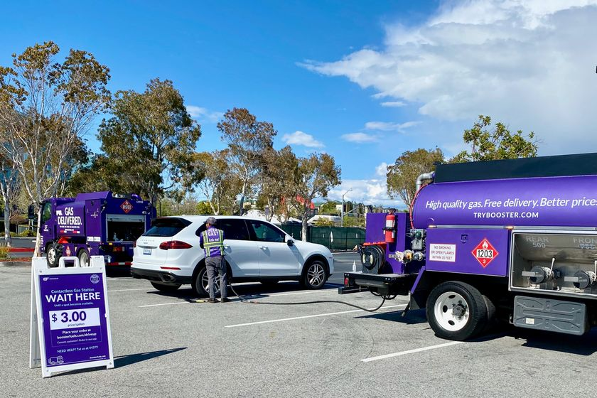 Booster Provides Contactless Gas Delivery