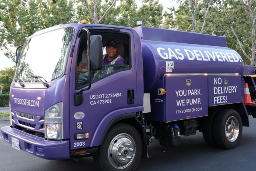 Booster delivers fuel in its signature purple mini-tankers directly into both fleet and consumer...